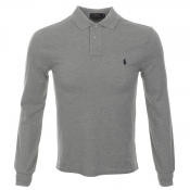 Ralph Lauren Slim Fit Polo T Shirt Grey