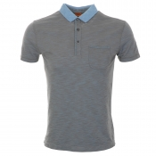HUGO BOSS Orange Phelon Polo T Shirt Grey