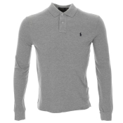 Ralph Lauren Custom Fit Polo T Shirt Grey