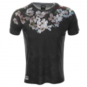 Cuckoos Nest Evening Florist T Shirt Black