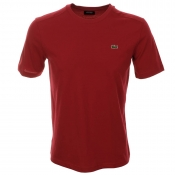 Lacoste Sport Crew Neck T Shirt Red