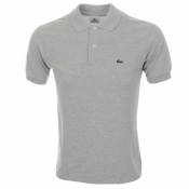 Lacoste Mottled Polo T Shirt Grey Marl