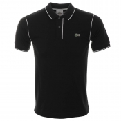 Lacoste Sport Piped Polo T Shirt Black