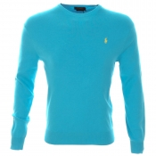 Ralph Lauren Crew Neck Slim Fit Jumper Blue