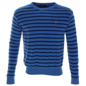 Ralph Lauren Striped Sweatshirt Jumper Colby Blue