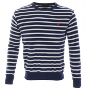 Ralph Lauren Striped Sweatshirt Jumper Navy