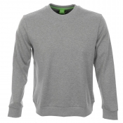 HUGO BOSS Green Salbo 1 Jumper Grey Marl