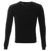 Religion Falling Knitted Jumper Black