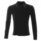 Armani Jeans Tipped Polo T Shirt Black