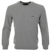 Armani Jeans Crew Neck Sweatshirt Jumper Grey