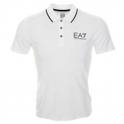 EA7 Emporio Armani Train Core Polo T Shirt White