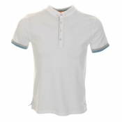 HUGO BOSS Orange Playster Polo T Shirt White
