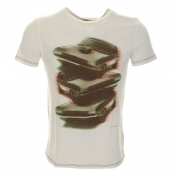 HUGO BOSS Orange Tracked 1 T Shirt White