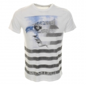 Diesel T Beak T Shirt White