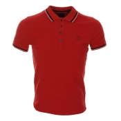 Diesel T Oin Polo T Shirt Red