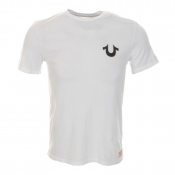 True Religion Traditional Logo T Shirt White