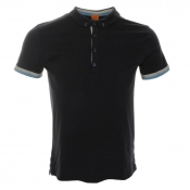 HUGO BOSS Orange Playster Polo T Shirt Navy