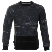 Cuckoos Nest Black Moon Sweatshirt Jumper Black