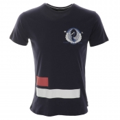Cuckoos Nest Heron T Shirt Blue