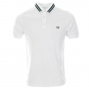 Fred Perry Sports Tape Polo T Shirt White
