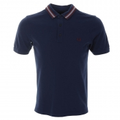 Fred Perry Sports Tape Polo T Shirt Blue