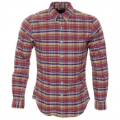 Ralph Lauren Slim Fit Tartan Shirt Pink