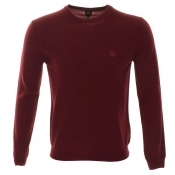 Pretty Green Mosley Crew Neck Knit Jumper Red