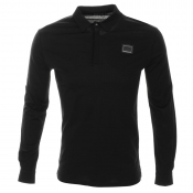 Antony Morato Long Sleeve Polo T Shirt Black