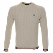 Fred Perry Sailor Knit Jumper Cream