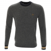Fred Perry Fleck Knit Jumper Grey