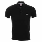 Lacoste Live Geo Padded Polo T Shirt Black