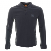 HUGO BOSS Orange Phlash Polo T Shirt Dark Blue