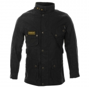 Barbour Slim International Waxed Jacket Black