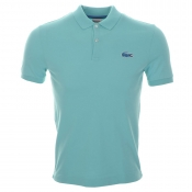 Lacoste Live Large Croc Polo T Shirt Blue