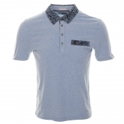 Original Penguin Grand Paisley Polo T Shirt Blue