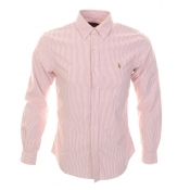 Ralph Lauren Slim Fit Stripe Shirt Red