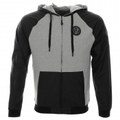 Versace Jeans Hooded Zip Jumper Grey