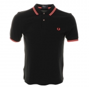 Fred Perry Soho Neon Tipped Polo T Shirt Black