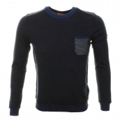 HUGO BOSS Orange Kobbe Jumper Dark Blue