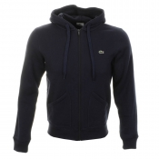 Lacoste Hooded Zip Top Jumper Navy