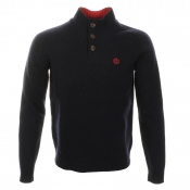Henri Lloyd Chilham Half Button Knit Jumper Navy