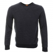 HUGO BOSS Orange Wilu Sweatshirt Jumper Navy