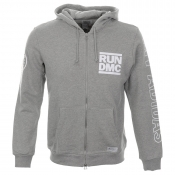 Adidas Originals X Run DMC Hooded Zip Jumper Grey