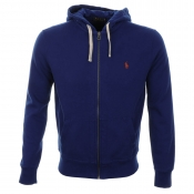 Ralph Lauren Hooded Athletic Fleece Jumper Blue