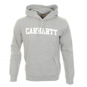 Carhartt Hooded College Sweatshirt Jumper Grey