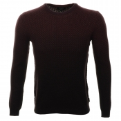 Ted Baker Carlow Dip Dye Jumper Dark Red