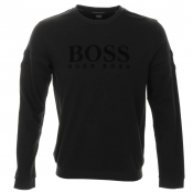 HUGO BOSS Black Crew Neck Sweatshirt Jumper Black