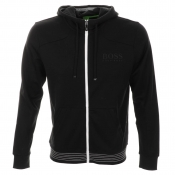 HUGO BOSS Green Saggy Hooded Jumper Black