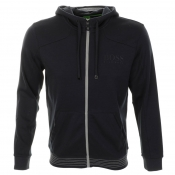 HUGO BOSS Green Saggy Hooded Jumper Navy