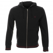 Fred Perry Bold Hooded Sweatshirt Jumper Navy